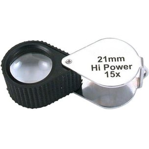 15x Round Loupe Chrome 21mm