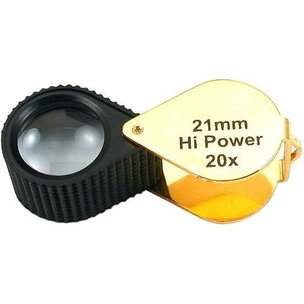 20x Round Loupe Gold Tone 21mm