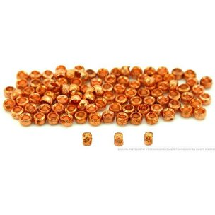100 Crimp Beads Jewelry Bead Parts Copper Plated 2.5mm