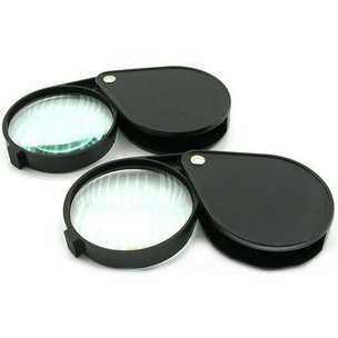 Pocket Magnifier Magnifying Glass, 4X Power Glass Lens 2pc