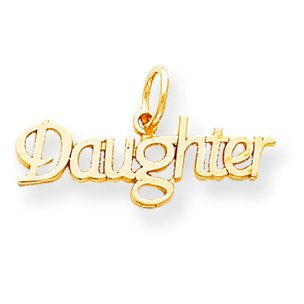10K Gold Daughter Charm