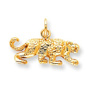 10K Yellow Gold Leopard Charm
