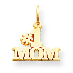 10K Yellow Gold #1 Mom Charm