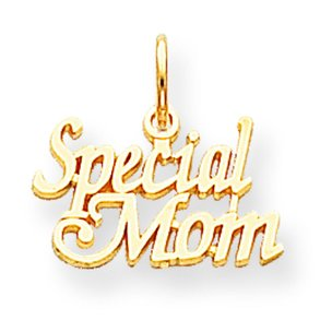 10K Yellow Gold Special Mom Charm