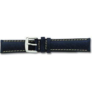 de Beer Navy Blue Sport Leather Watch Band (16 to 24mm)