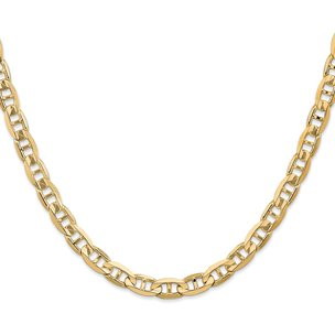 14K Gold 6.25mm Concave Anchor Chain