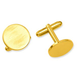 Gold Plated Round Cuff Links