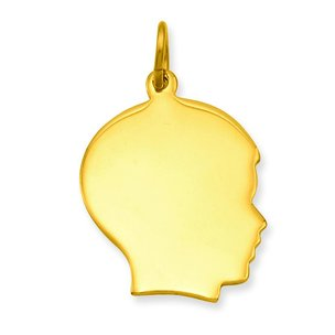 Gold Plated Boy Head Charm