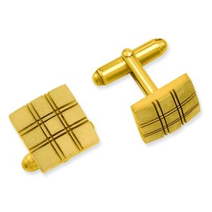 Gold Plated Square Cuff Links