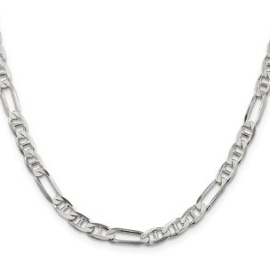 Sterling Silver Figaro Anchor Chain
