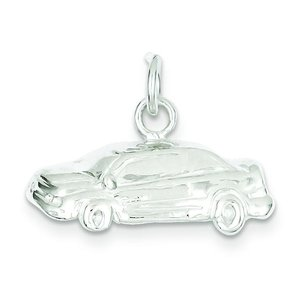 "Sterling Silver Car Charm & 18"" Chain"