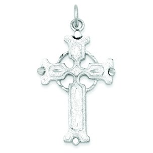 Sterling Silver Celtic Iona Cross Charm Jewelry