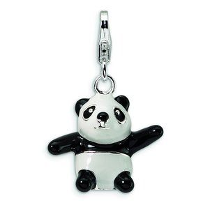 Sterling Silver Panda Lobster Clasp Charm