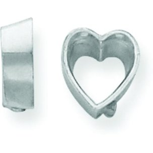 14K White Gold Heart Bezel Setting (3.50 to 13.00mm)