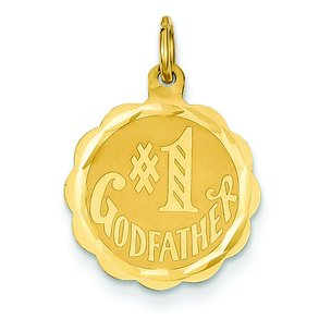 14K Gold #1 Godfather Charm