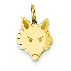 Fox Head Charm 14K Gold