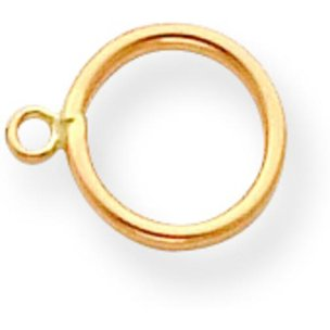 14K Gold Toggle Clasp Ring