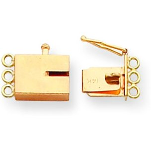 14K Gold Box Clasp Replacement Tongue 9.6mm