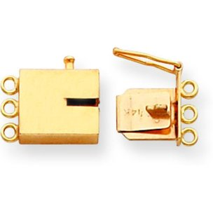 14K Gold Box Clasp Replacement Tongue 10.1mm