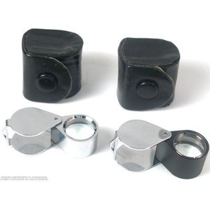 2 10X Eye Loupe Magnifiers Jewelers Gemologist Tools