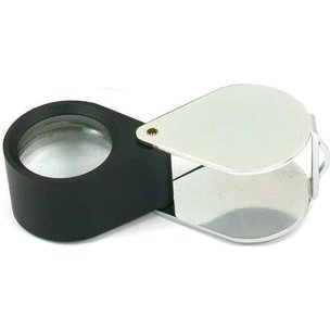 10x Round Loupe Chrome Plated 21mm