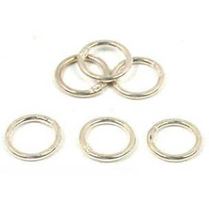 Round Closed Jump Rings Sterling Silver 20 Gauge 7mm 6Pcs