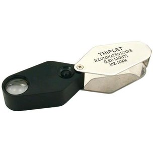 10x Illuminated Triplet Loupe 18mm