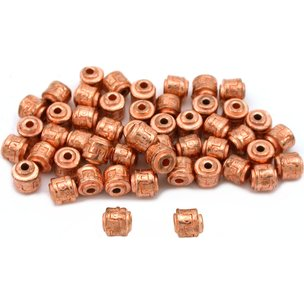 Bali Barrel Copper Plated Beads 5mm 50Pcs Approx.