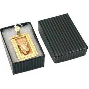 Findingking Pinstripe Cotton Filled Jewelry Gift Box Black Only 1