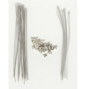 50 Twisted Beading Needles & 55 St. Silver Crimp Beads