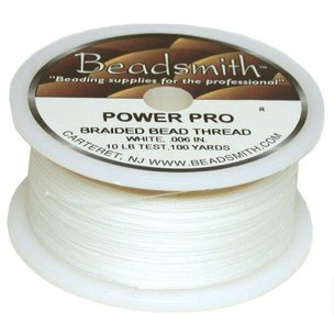 Beadsmith Bead Stringing Cord White FindingKing