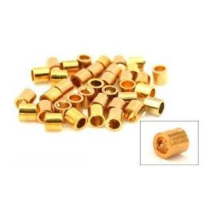 Crimp Beads Gold Plated 2mm 36Pcs