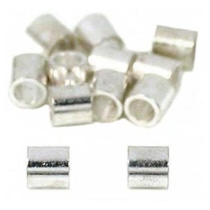 Crimp Beads Silver Plated 2mm 12Pcs