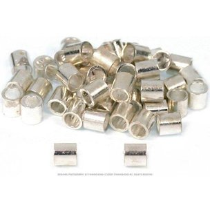 48 Crimp Beads Silver Plated Beading Stringing Parts